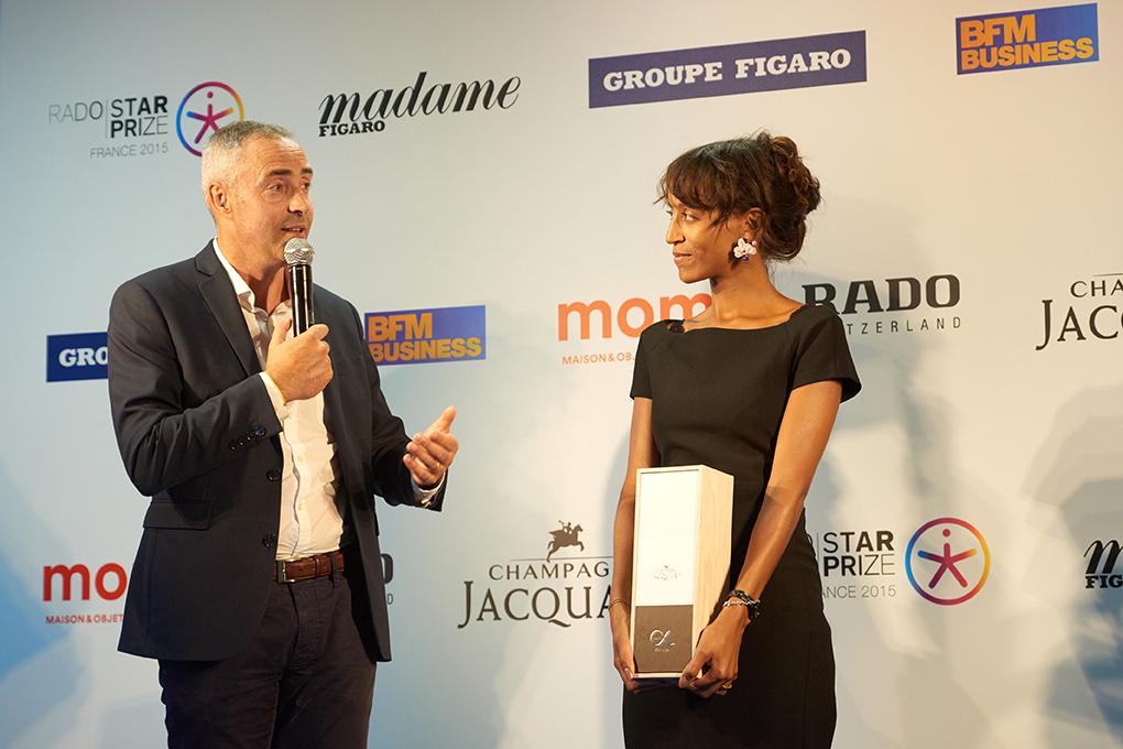 Barbara présente sa création pour Jacquart à la Paris Design Week