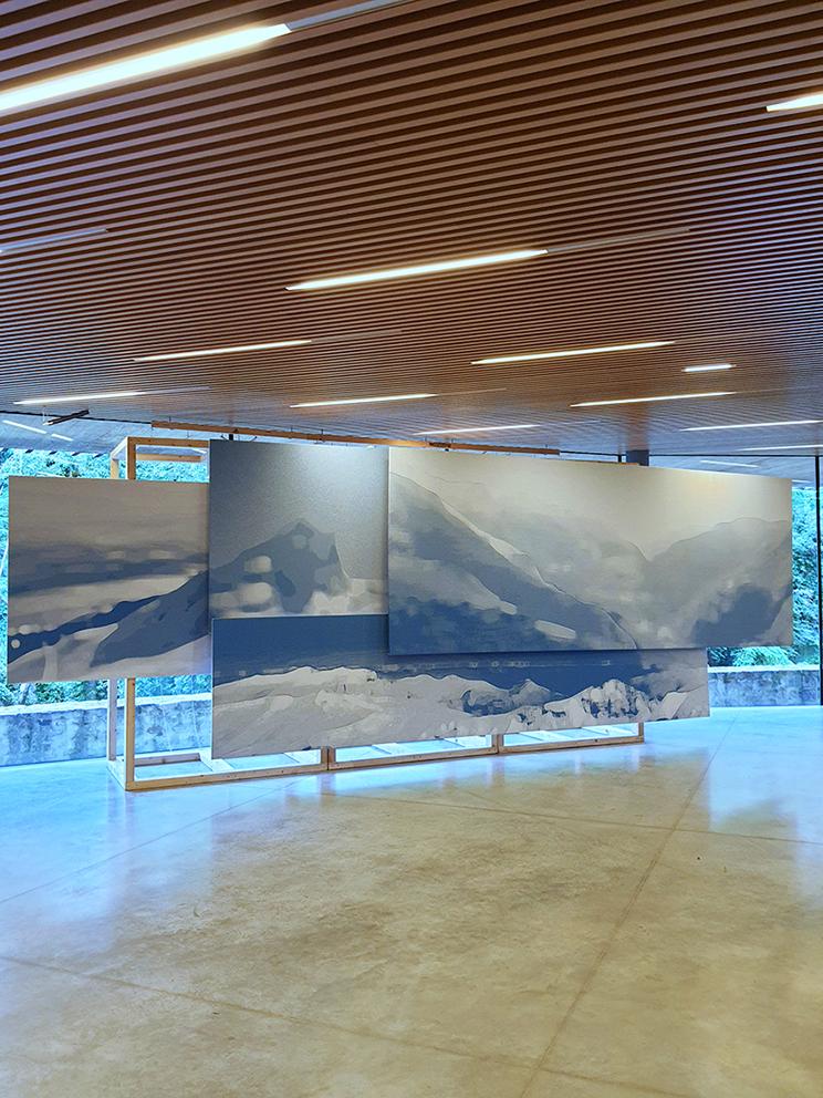 Blue Landscape - Biennale Influence Textile